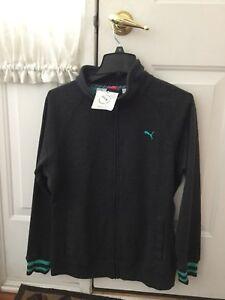 0788e894a30d New Puma Women s Dry Cell Sweat Jacket - Dark Heather Gray - Size XL ...