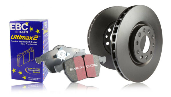 Ebc Rear Brake Discs & Ultimax Pads Audi A3 (8p) 1.2 Turbo (2010 > 12) Up-To-Date Styling