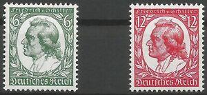 German-Reich-Minr-554-555-Clean-Mint