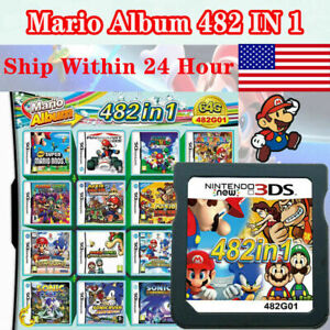 HOT 482in1 Video Game Card Super Mario For Nintendo DS NDSL NDSI 2DS 3DS US SHIP
