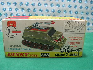 Dinky Toys 353 - Ufo Shado 2 Portable Dédicacé Par Ed Bishop Mib Rare
