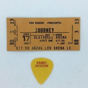 1987 Journey Concert Ticket Stub Randy Jackson Pick Blaisdell Arena Honolulu