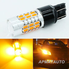 2x Amber No Error Canbus 7440 WY21W LED Bulbs For Front Rear Turn Signal Lights