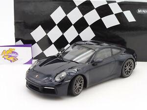 Porsche 911 992 Carrera 4S blau Modellauto 155067321 Minichamps 1:18