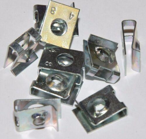 - espesor 3-4mm galvanizado BEF para tornillos de chapa 4,8 mm 10x tuercas de chapa de acero