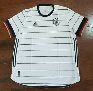 Details about Adidas Germany Authentic 2020 Home Soccer Jersey Men's Size XXL 2XL White EH6104