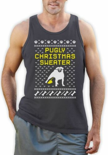Pug Ugly Christmas Sweater Singlet Funny Xmas Apparel Pugly Christmas Sweater