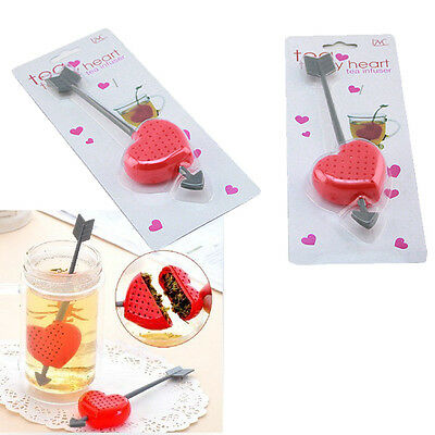 Sweet Tea Filter Infuser Strainer Teacup Teapot Cupid Heart Valentine Gift