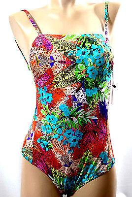 L AUDELLE MAILLOT BAIN 1 piece Tailles S XL Couleur imprime Orange /'India/'
