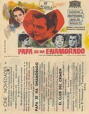 Programa PUBLICITARIO de CINE: PAPÁ SE HA ENAMORADO.