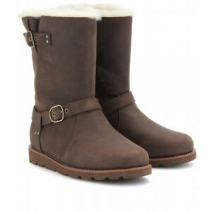cd2ab981443 Details about UGG Australia Women's Noira Brownstone Leather Boot 7 M US