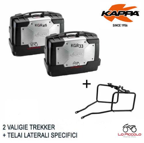 SET 2 CASOS KAPPA LATERAL KGR33 + KGR46 +SOPORTE TRIUMPH TIGER 1050 SPORT