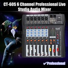 ELM CT-60S 6 Channel Professional Live Studio Audio Mixer USB Mixing Console