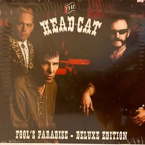 THE HEAD CAT - FOOLS PARADISE [DELUXE EDITON] NEW CD & DVD + Official GTR Pick