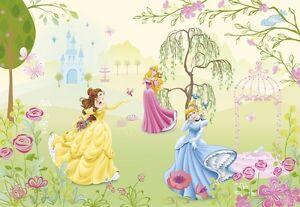 cameretta-per-bambini-Carta-da-parati-murale-principesse-GIARDINO-SCENA-FOTO