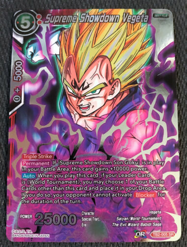 Supreme Showdown Vegeta TB2-005 SR Dragon Ball Super TCG NEAR MINT