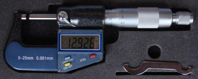 Digital - bracket measuring screw,0-25-50-75-100-125-150-175-7.9 in,Readout 0 in