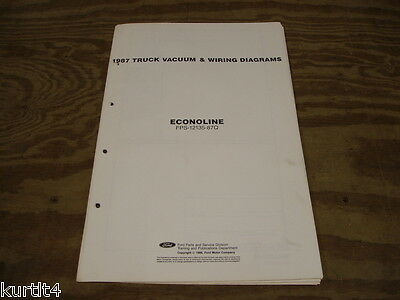 1987 Ford Econoline Van E150 E250 wiring diagram schematic ...