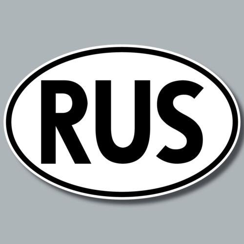 RUS Aufkleber Sticker RU Russland Länderkennung Auto Pkw Kfz Bus Lkw Zeichen