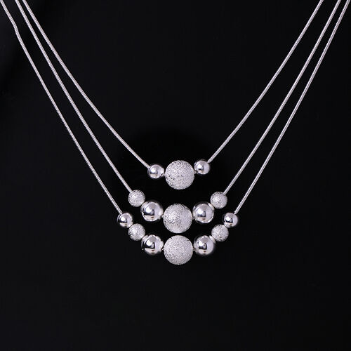 wholesale Fine Jewelry solid Silver Fashion beautiful necklace +gift box925