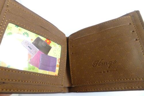 Mens Wallet Leather Imitation Card Photo Holder//ID Holder 5 Different Models