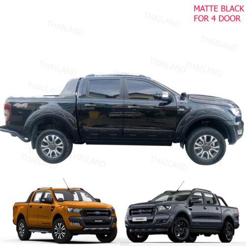 Side Molding Body Cladding Black FITT Fits Ford Ranger Pickup 4 Door 2012-2017