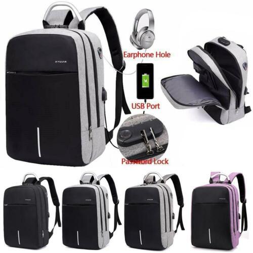 Diebstahlsicherer Laptop-Rucksack Travel Business USB-Lade-Audio-Passwortsperrbe