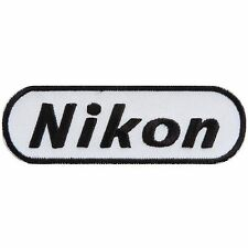 Nikon Camera Black WhiteLogo Digital Film Photography Iron on Patches #1842