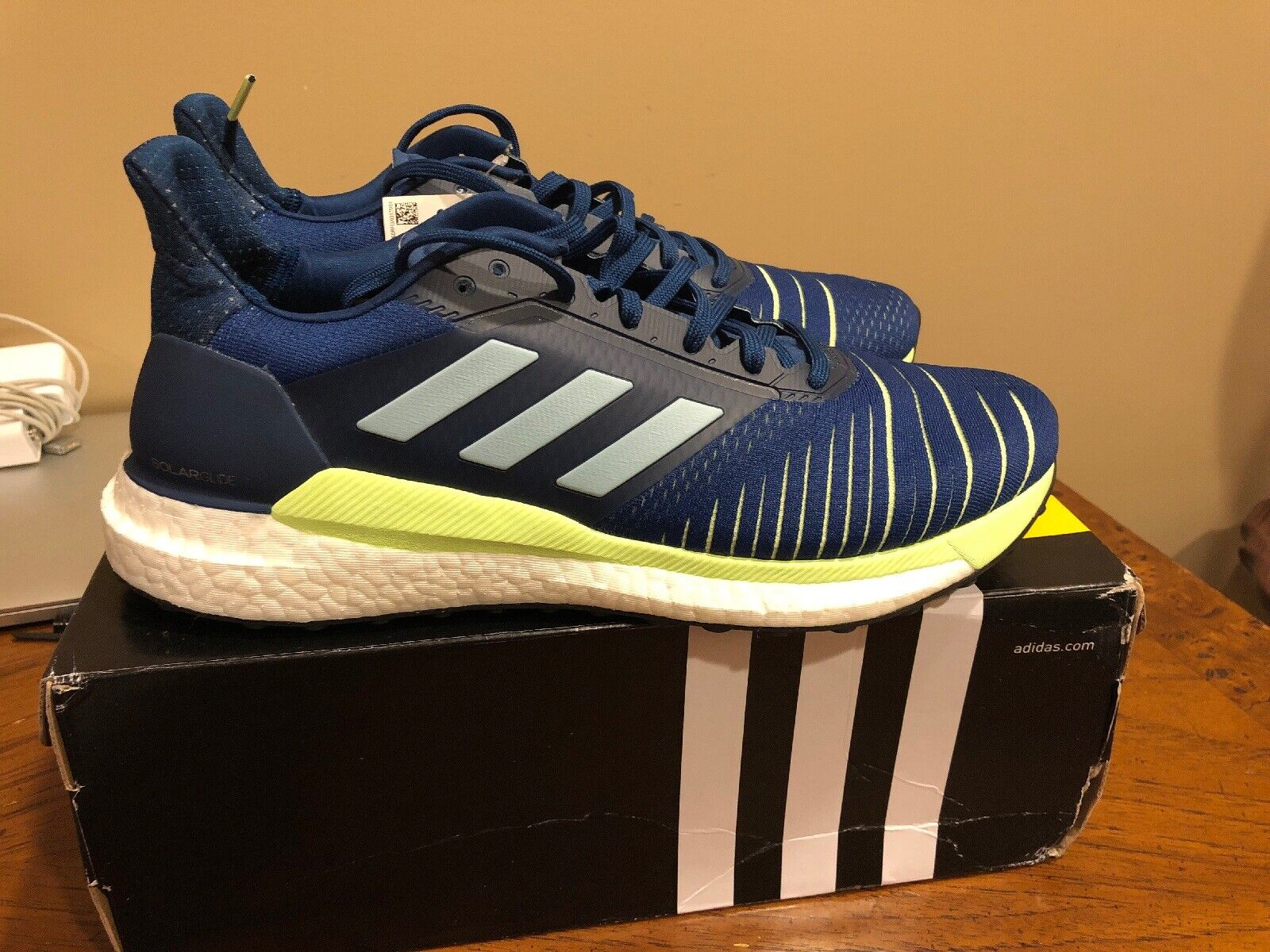 Adidas Solar Glide Legend Marine Hi-Res Yellow Men Running shoes Sneakers D97436