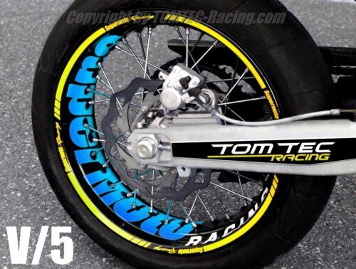 Sticker Wheel Supermoto Kawasaki KX 400 450 KXF KLR KLX 125 250 Rim Decals Tape