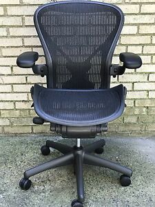 huge discount 229ab f4c6c Details about Herman Miller Aeron Chair Posture Fit Fully loaded Size B