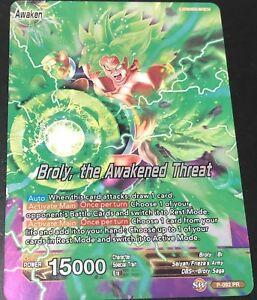 Losse kaarten spellen Verzamelingen Dragon Ball Super Card Broly the Awakened Threat Foil Promo Leader FAST SHIP!!!!