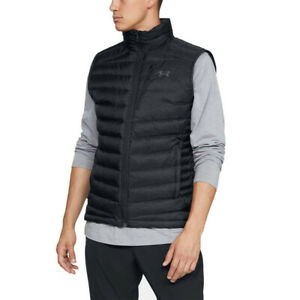 Under Armour Mens Iso Down Gilet Black Sports Outdoors Full Zip Breathable