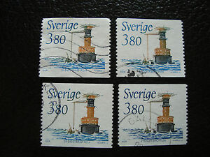 SUEDE-timbre-yvert-et-tellier-n-1510-x4-obl-A27-stamp-sweden-Z