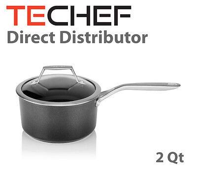 Techef Onyx Collection 2 Quart Saucepan With Glass Lid Teflon Platinum Ebay