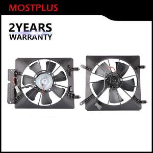 Radiator /& AC Condenser Cooling Fan Assembly Pair for 02-06 Honda CR-V CRV