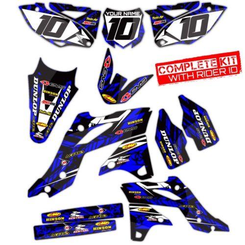 BLACK BLUE DECALS 2014 2015 2016 2017 YZ 250F 450F GRAPHICS KIT ISLANDSTRIKE