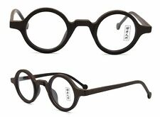 db56f759aa 38mm Vintage Small Round Eyeglass Frames Acetate Rx-able Spectacles Glasses