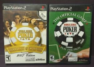 World-Series-of-Poker-Tournament-of-Champions-PS2-Playstation-2-Game-Lot-Works