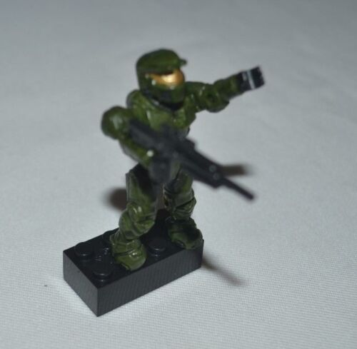 HALO SERIES 5 UNSC GREEN SPARTAN WITH SHOTGUN LOOSE FIGURE
