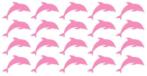 20 Dolphin Vinyl Wall Art Stickers Decal Mural Cardmaking Crafting Walls Mirror
