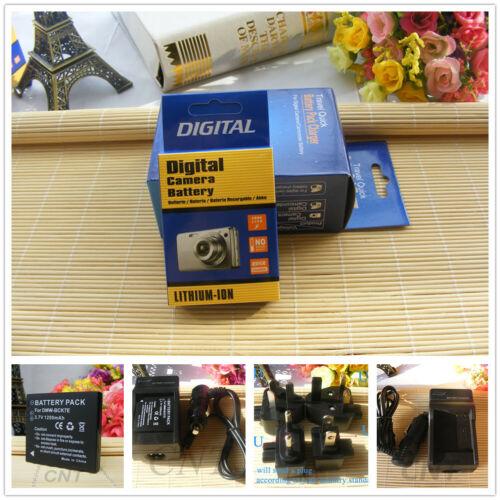 Cargador para PANASONIC LUMIX DMC-FS18 DMC-FS16 DMC-S3 DMW-BCK7E Batería 2 un