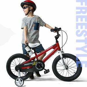 RoyalBaby Freestyle Children's Pedal Bike with stabilisers - Various sizes