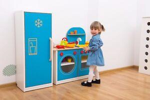 Image Is Loading Toy Kitchen Pretend Childrens Kids Wooden Fridge