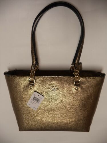 Coach dorado Leather bolso Pebbled pequeño ¡Nuevo metalizado de 37117 889532054268 Sophia mano estilo TXSxOrTwq