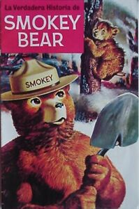 4 FOREST SERVICE RUSTIC NOS CLASSIC SMOKEY BEAR WOOD COASTER SET OF U.S 4