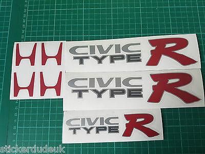 Honda Civic EK9 Type R Sticker Set inc 2 x side panel + boot decal - DARK CARS