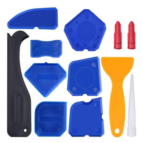 Caulking Tool Kit Silicone Sealant Finishing Tool Grout Scraper Caulk Set of 12