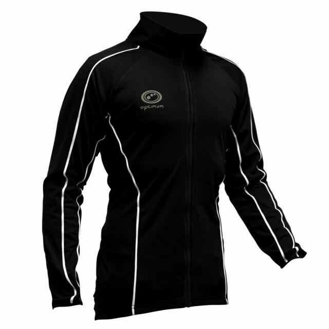 3ad76c40607 Optimum Sports Thermal Cycling Jacket Warm Showerproof Windproof - Black
