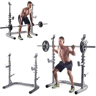 golds gym workout squat rack bench power weight stand